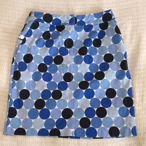 Talbots Stretch Cotton Canvas Skirt